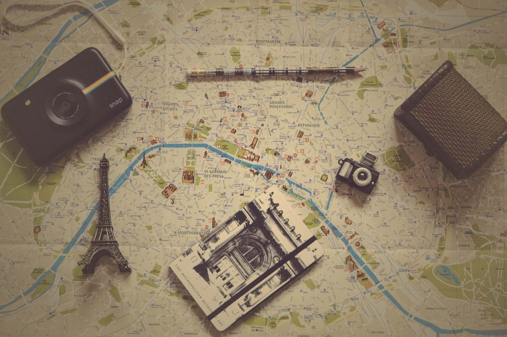 Vintage style tourist map
