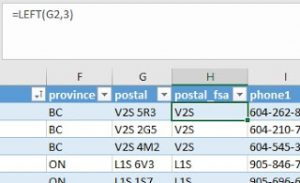 New formula column to create a common field to FSA map layer.