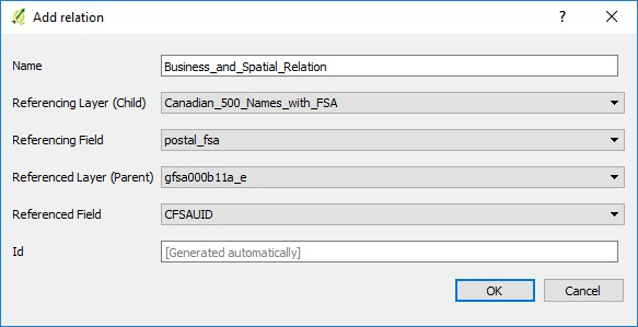 Configuring a relation between FSA postal layer and customer contacts.